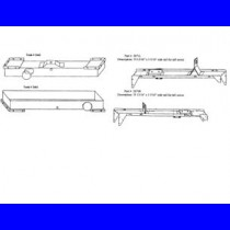 "#2660CT set, top, btm tanks and rails, HDR: 22 5/16"" X 3 5/16"""