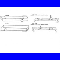 "#2660C set, top,btm tanks and rails, HDR: 22 5/16"" x 3 5/16"""